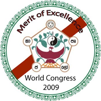 Sello al mérito a la excelencia del 47th World Congress for Complementary Medicine otorgado a David Luján